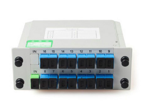 Casette Type FTTH Distribution Box 1 * 16 Insertion Type Fiber Optic PLC Splitter